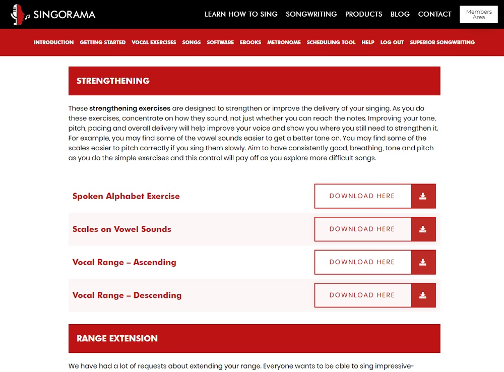 Singorama vocal exercises